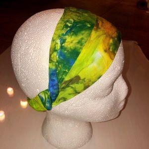 OS headband scarf tie dye batik hippie boho festie